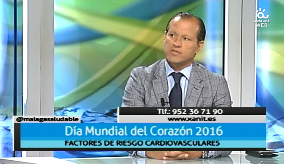 Participación en el programa 'Málaga Saludable' de Onda Azul con motivo del Día Mundial del Corazón (30/09/2016)