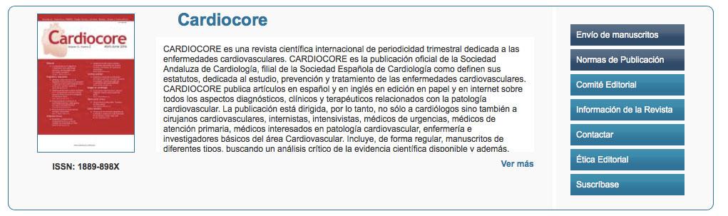Nominación al Premio Pedrote y concesión del Premio SAC al mejor manuscrito original publicado en la revista 'Cardiocore'