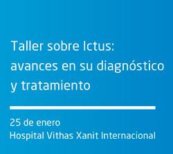 Ponente en Taller sobre Ictus: avances en su diagnóstico y tratamiento