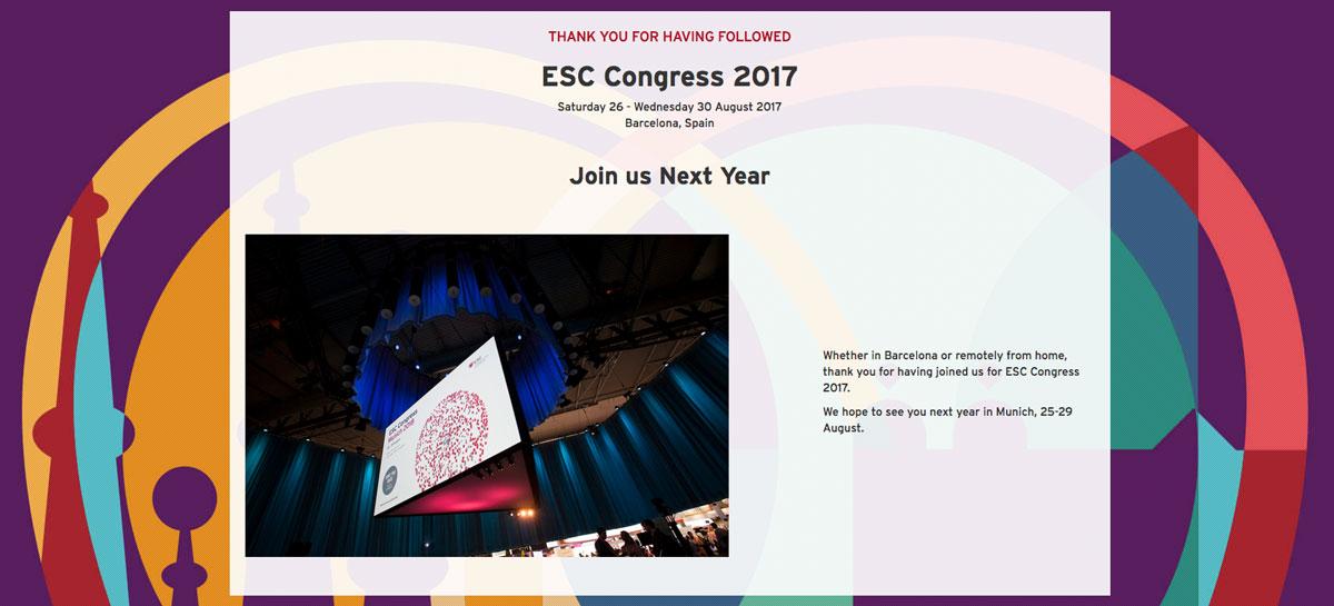 Trabajos presentados en el Congreso Europeo de Cardiología (30-08-2017)